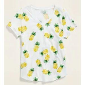 Pineapple T-shirt Yellow Pineapple Tee